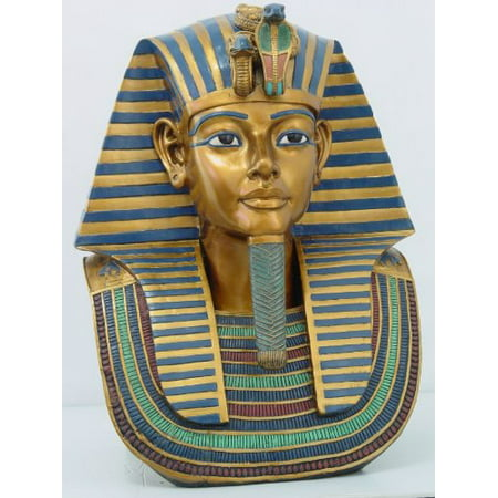18.75 Inch Egyptian King Tut Head and Bust Resin Statue (Scale Resin Bust)