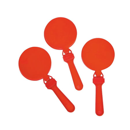 Clapper Hands (Fun Express - Red Round Clapper - Toys - Noisemakers - Hand Clappers - 12)