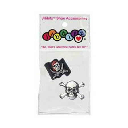 Nite Ize Crocs Jibbitz Charm, Pirate & Skull (2-Pack) J-B-2-1028