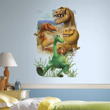 The Good Dinosaur Gang Peel and Stick Giant Wall (Dinosaur Wall Border)