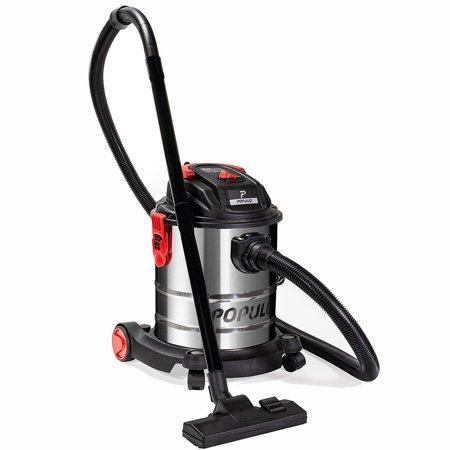 Populo 5.5 Peak HP 5 Gallon Wet & Dry Vacuum Bucket 3-Functions Vacuum Dry/ Wet / Blow with
