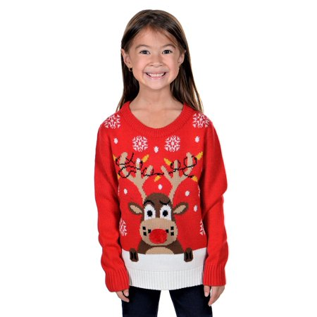 KESIS Children Rudolph Rein Deer Ugly Christmas Sweater (Ugly Christmas Sweater Girls)