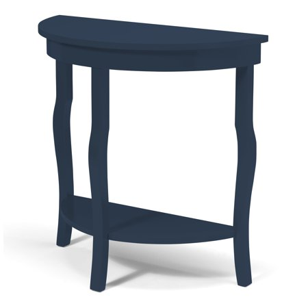 Curved End Console - Kate and Laurel Lillian Half Moon Console Table