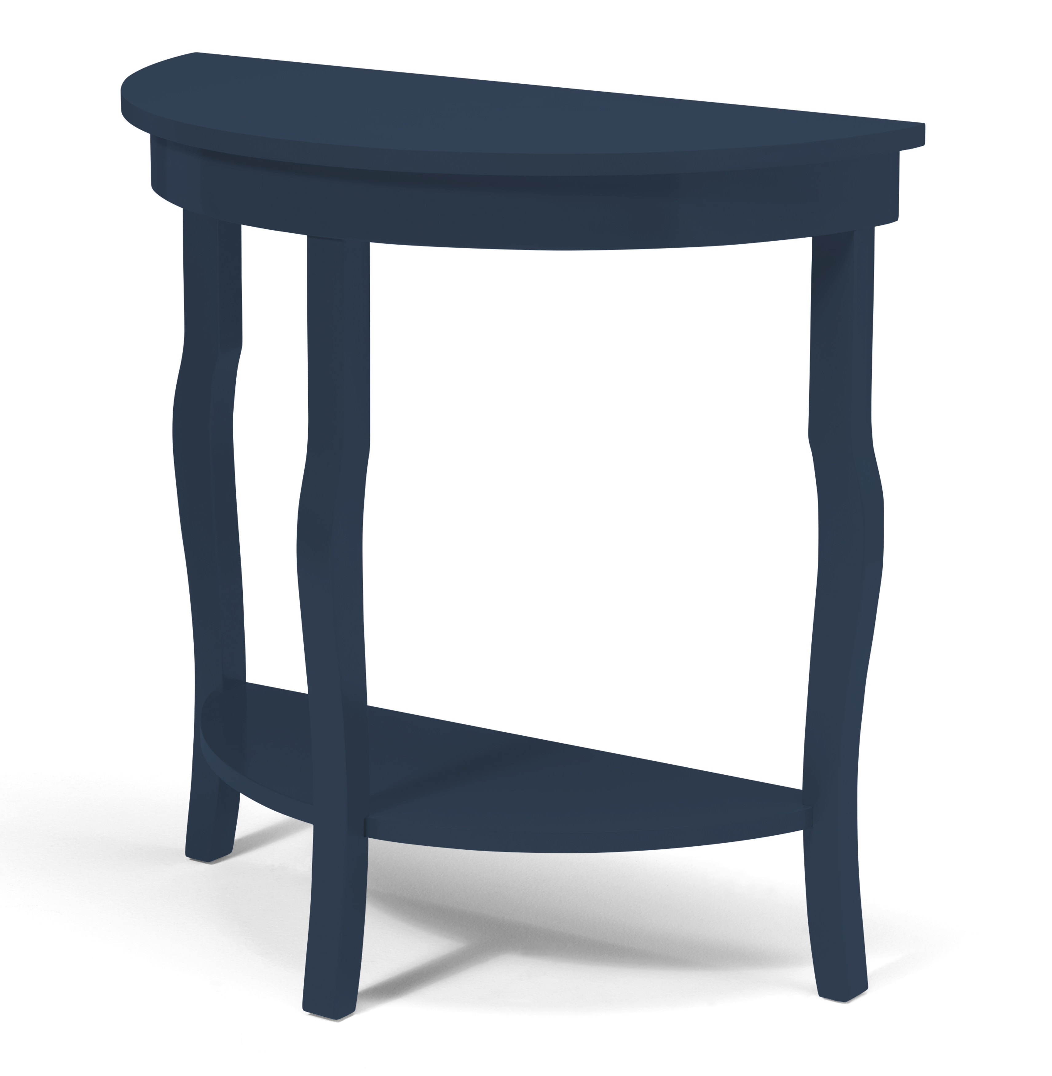 Kate And Laurel Lillian Half Moon Console Table