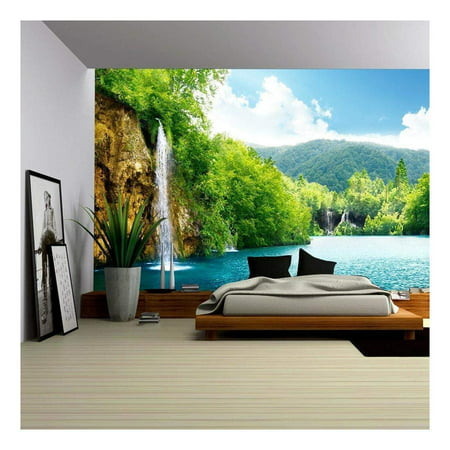 wall26 - Waterfall in Deep Forest of Croatia - Removable Wall Mural | Self-Adhesive Large Wallpaper - 100x144 inches](Halloween Fall Wallpaper)