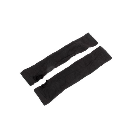 Unique Bargains Women's Winter Warm Elastic Cuff Fingerless Arm Warmers Gloves Pair Black - Black Arm Warmers