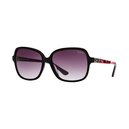 764217c7907c GUESS Oversized Rectangular Floral Animal Print Sunglasses GU7382 -  Walmart.com