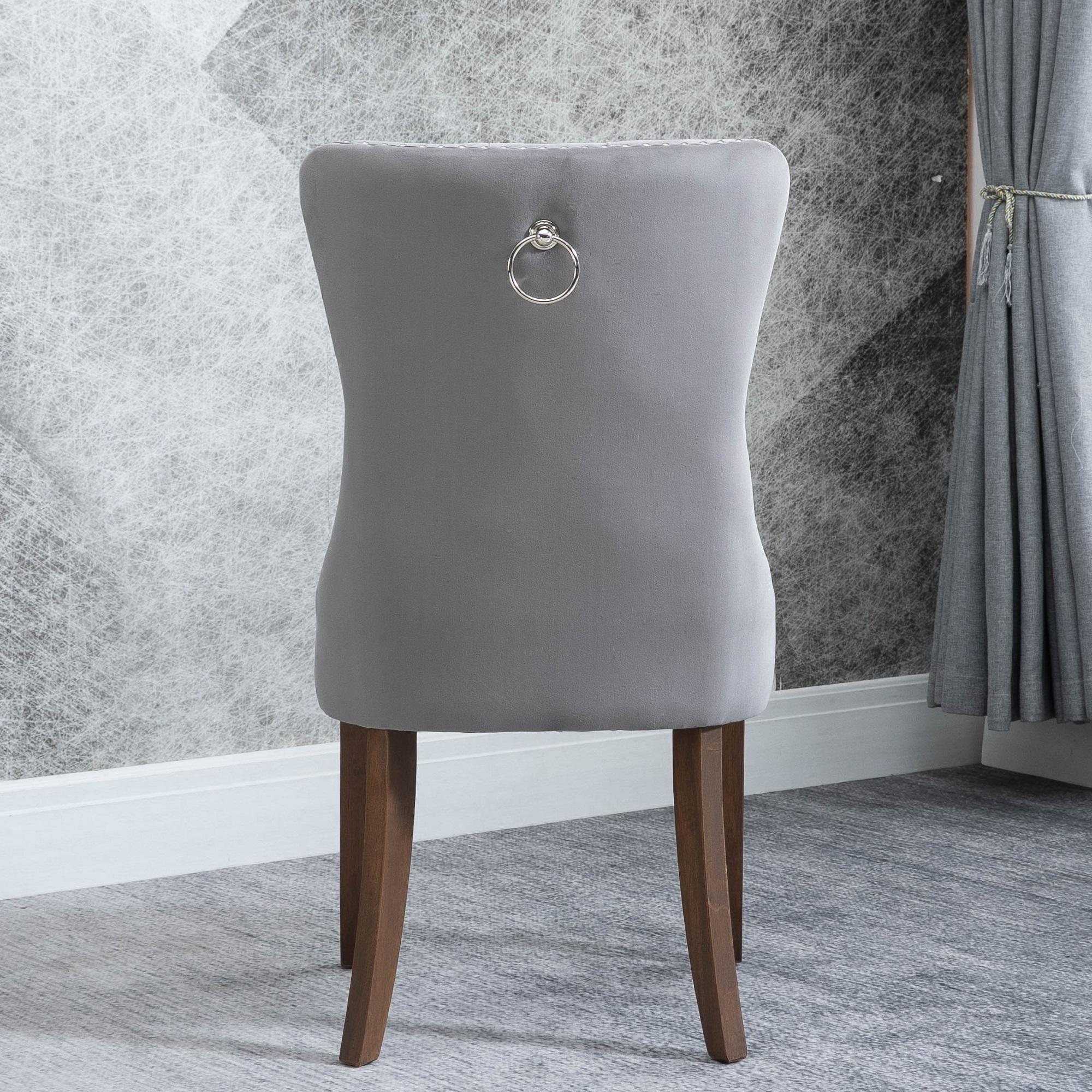 Clearance Living Room Chair Set Of 2 Tufted Velvet
