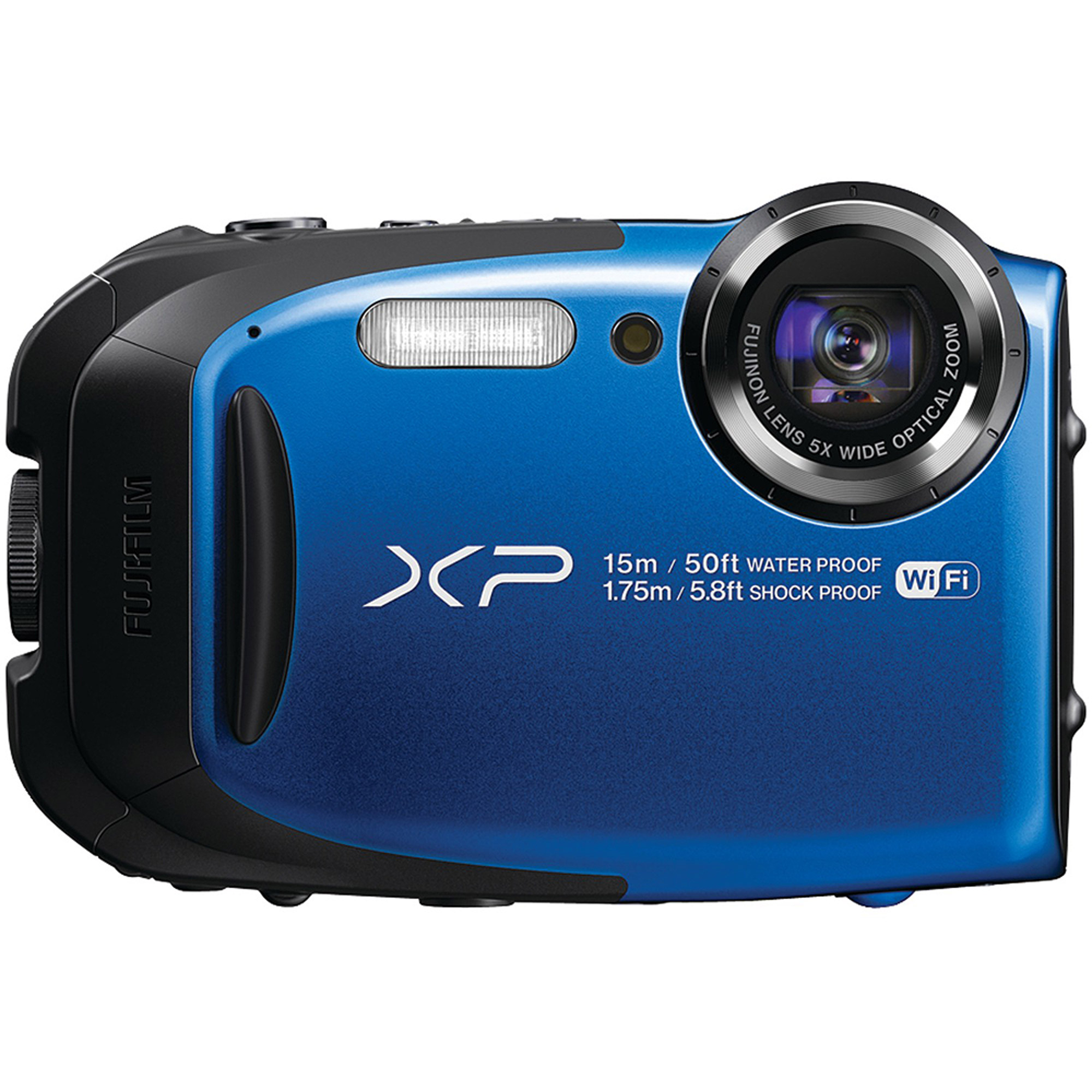 Fujifilm FinePix Blue XP80 Digital Camera with 16 Megapixels and 5x Optical Zoom