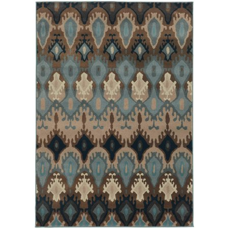 Style Haven Old World Tribal Blue/ Stone Area Rug - 9'10  x 12'9  Featuring a rich palette of colors this old world tribal patterned polypropylene area rug will be a fashion forward addition to your home's decor. Interesting surface texture is achieved with high-twist and two-tone yarns.Machine wovenDurable with easy care and cleaningPrimary materials: 100 percent polypropyleneLatex: NoPile height: .31 inchesStyle: TransitionalPrimary color: BlueSecondary colors: Stone, brown, navy and ivoryPattern:  OrientalTip: We recommend the use of a  non-skid pad to keep the rug in place on smooth surfaces.All rug sizes are approximate. Due to the difference of monitor colors, some rug colors may vary slightly. Overstock.com tries to represent all rug colors accurately. Please refer to the text above for a description of the colors shown in the photo.Tip: We recommend the use of a  non-skid pad to keep the rug in place on smooth surfaces.All rug sizes are approximate. Due to the difference of monitor colors, some rug colors may vary slightly. Overstock.com tries to represent all rug colors accurately. Please refer to the text above for a description of the colors shown in the photo.