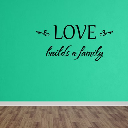 Wall Decal Quote Love Builds A Family Vinyl Decal Words Living Room Decor DP96 - Build A Word