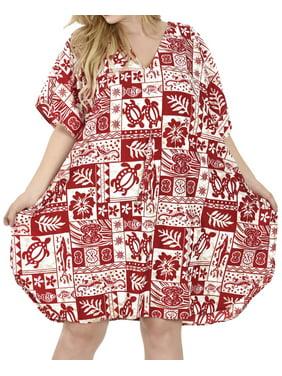4b40d705f8401 Product Image Smooth Likre Vintage Hibiscus Dress Coverup Lounge Caftan  Beach Swimwear Tunic. LA LEELA