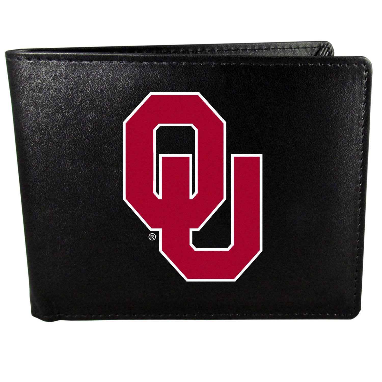 Oklahoma Sooners Bi-Fold Wallet Logo, Large, Black