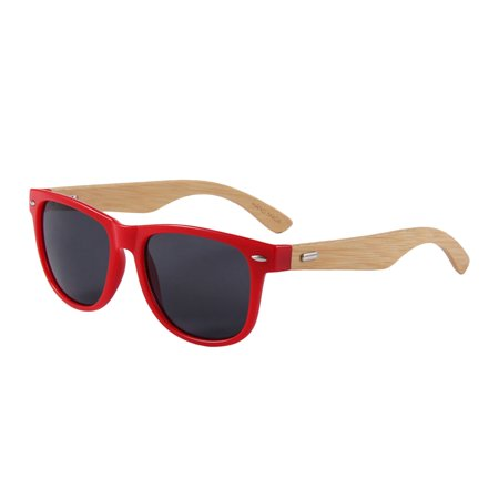 Surf Snow Promo University of Georgia 313 Series Bamboo Sunglasses-Red Frames-Smoke Lenses