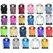 2pc Formal Color Satin Bow Tie Vest Set Only Boy Baby Toddler Kids