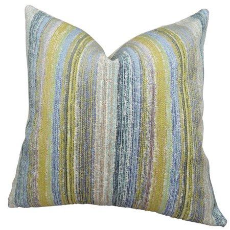 "Plutus Spoft Strie Cornflower Handmade Throw Pillow, (20"" x 36"" King) - image 1 de 1"