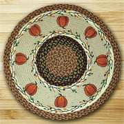 Earth Rugs 66-222HP Round Patch Rug, Harvest Pumpkin