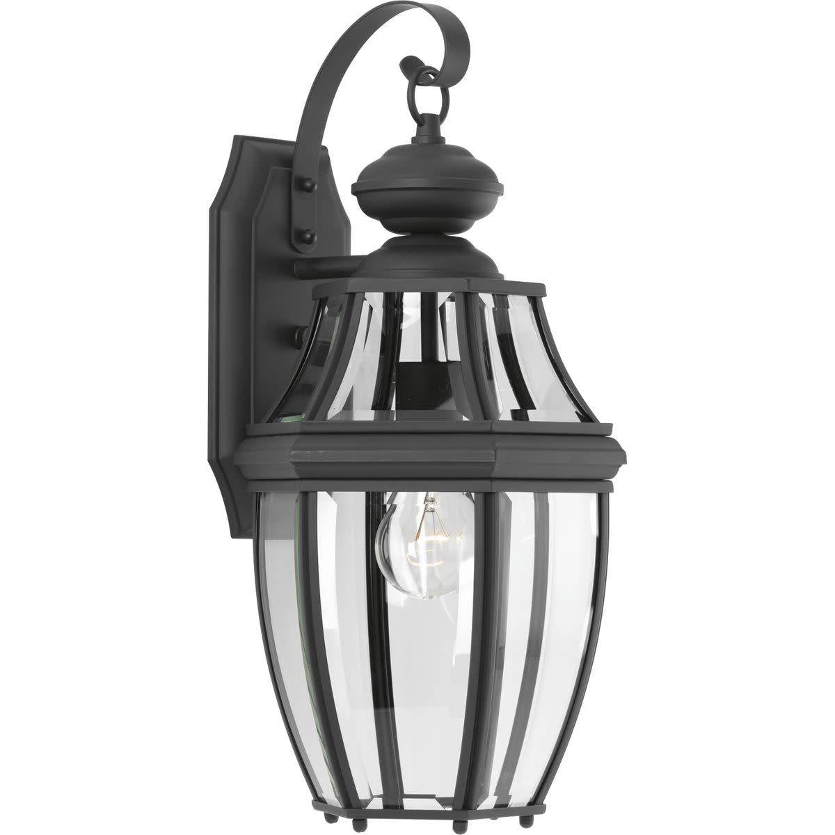 """Progress Lighting P6611 New Haven Single Light 9"""" Wide Outdoor Wall Sconce with Clear Beveled Glass Panels"""