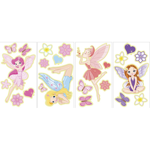 WallPops Fairies Glow In The Dark Wall Art Kit