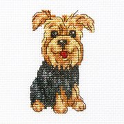 "Cheerful Archie Counted Cross Stitch Kit, 3.5"" x 3.5"", 14 Count"