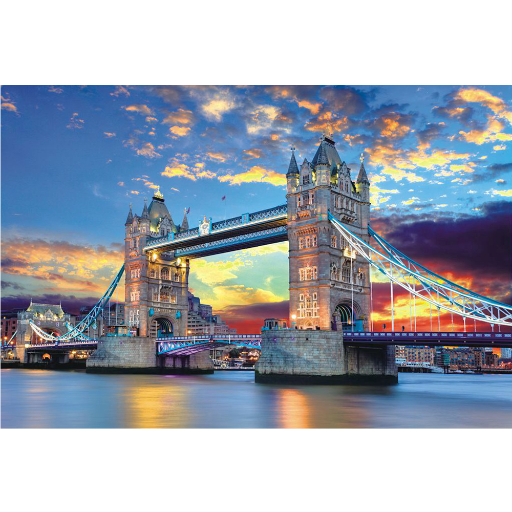 1000 Pieces Jigsaw Puzzle DIY Starry Sky City Adult Puzzles Kids Educational Toy