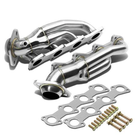 (For 04-08 Ford F-150 4-1 Design 2-PC Stainless Steel Exhaust Header Kit - 4.6L V8 05 06 07)