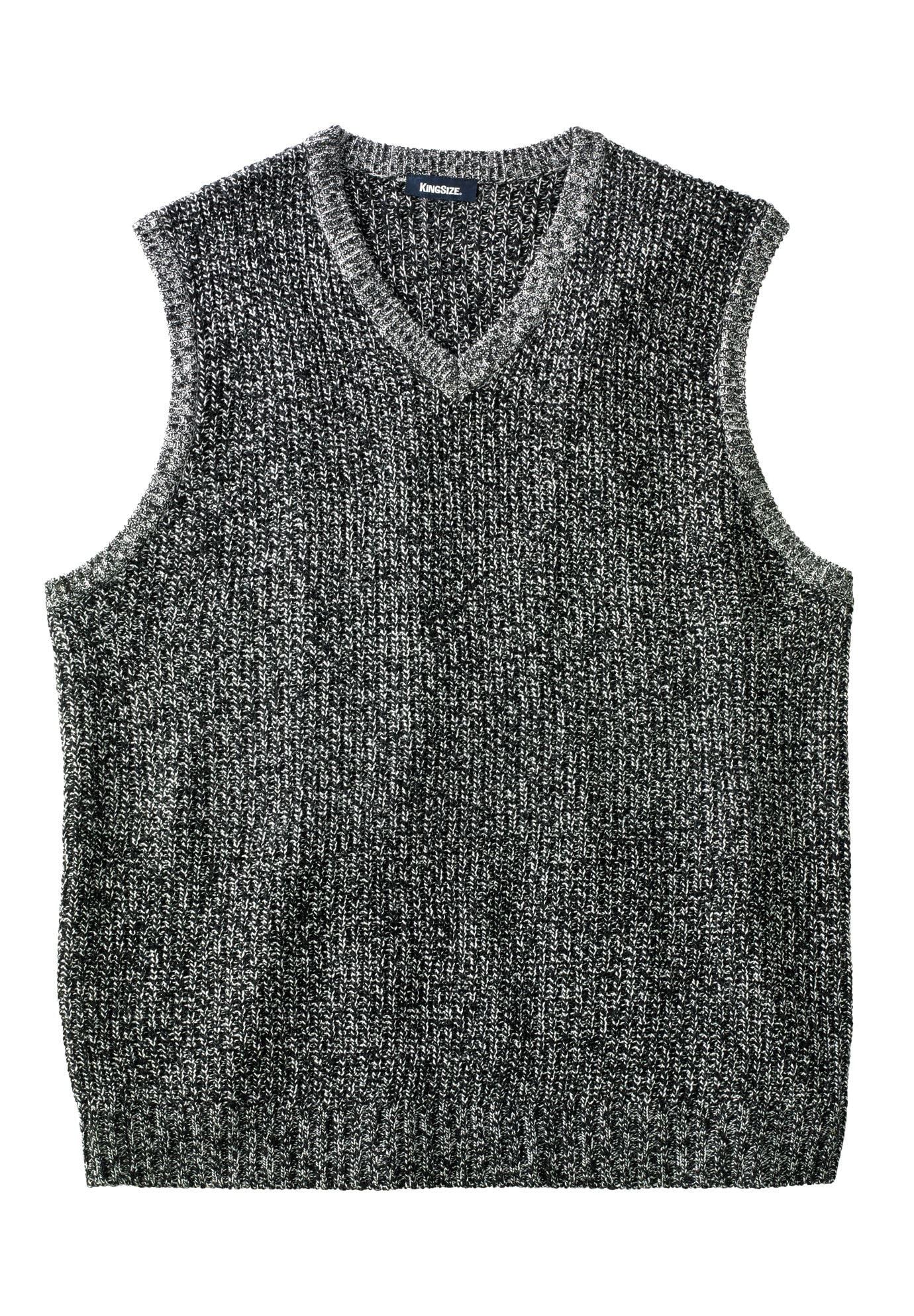 Men's Big & Tall Shaker Knit V-neck Sweater Vest