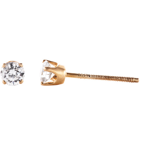 1/4 Carat T.W. Round Diamond 14kt Yellow Gold Stud Earrings
