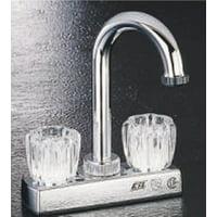 Boston Harbor Non-Metallic Bar Faucet, 2 Handle, 10.24 In L X 6.34 In W X 2.36 In H, Chrome