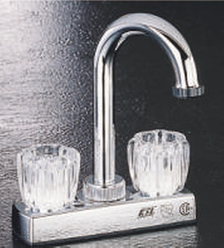 Boston Harbor Non-Metallic Bar Faucet, 2 Handle, 10.24 in L x 6.34 in W x 2.36 in H, Chrome