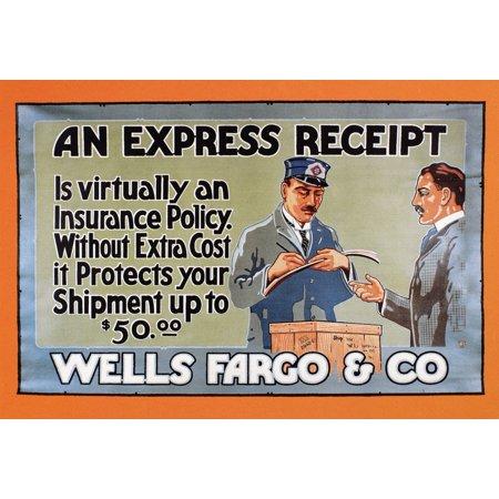 Wells Fargo Express 1914 Nbanner For Wells Fargo   Co Express 1914 Rolled Canvas Art     24 X 36