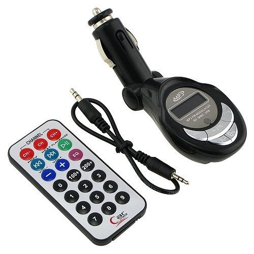 Wireless FM Transmitter Modulator Car Kit MP3 Player LCD Remote Bluetooth Kit Cars FM Modulator Listen to Streaming Music Player For Car Automotiver Hands Free Phone SD/USB Steering Wheel