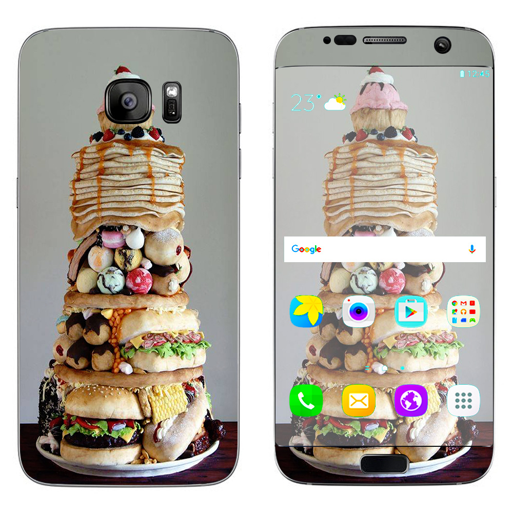 Skins Decals For Samsung Galaxy S7 Edge / Ultimate Foodie Stack All Foods
