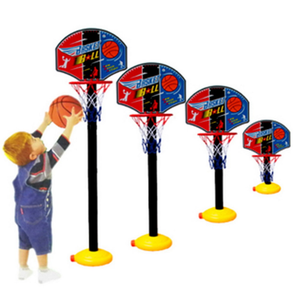 Kids Sports Portable Basketball Toy Set with Stand Ball & Pump Toddler Baby Safe inflatable basketball Lightweight