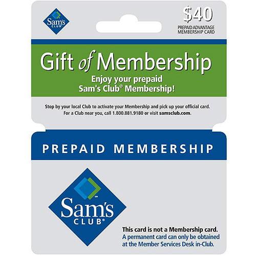 Sam's Club $40 Membership Gift Card