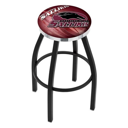 Southern Illinois 30 Inch L8B2C Black Wrinkle With Accent Ring Bar Stool