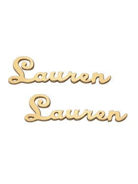 Personalized Sterling Silver or Gold over Sterling Satin Script Name Earrings