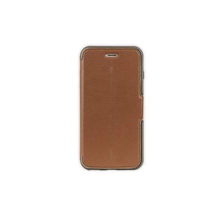 (Refurbished) OtterBox STRADA Leather Wallet Case for iPhone 6 / 6S Plus (ONLY) - Saddle ()