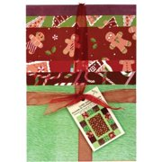 Cuddly Quilt Kits-Christmas-Gingerbread Lane Multi-Colored
