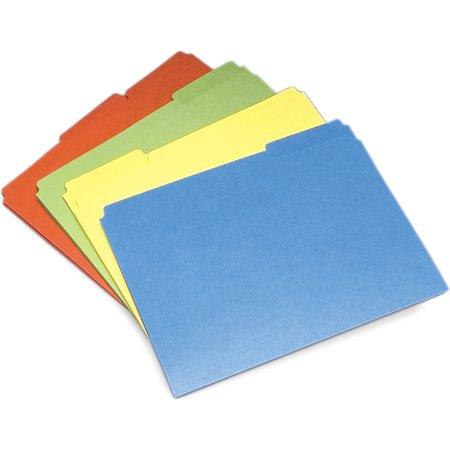 - Skilcraft File Folders, Single Ply, 1/3 Cut, Letter, 24/PK, AST 4840006