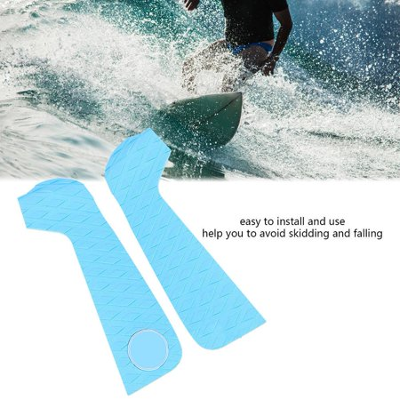 Yosoo 3pcs EVA Anti-slip Surfboard Traction Pads Tail Pad Surfing Sports Accessories , Surfboard Tail Pad, Surfing Deck