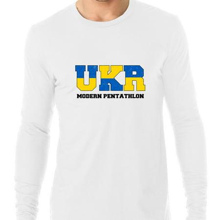 Ukraine Modern Pentathlon - Olympic Games - Rio - Flag Men's Long Sleeve T-Shirt