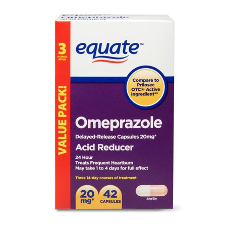 Equate Acid Reducer Omeprazole Capsules, 20 mg, 42 Count, 3