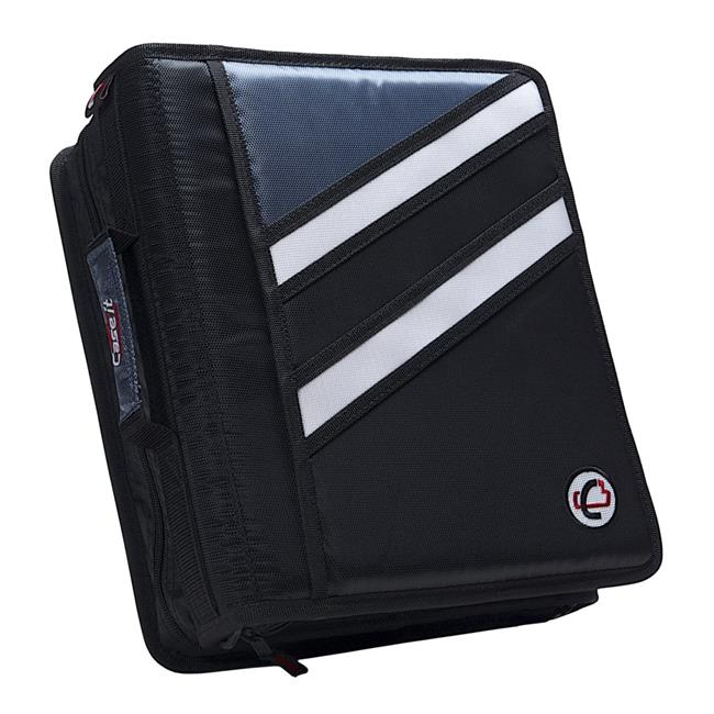 The Z Zippered D-Ring Binder, 1.5 in. - Black