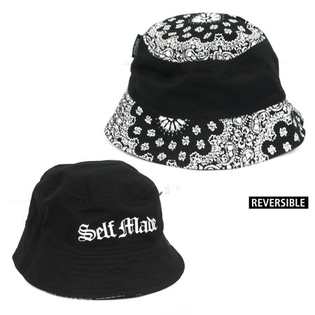 a76bfba8896 Famous Stars   Straps Reversible Crossover Bucket Hat - Walmart.com