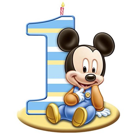 Mickey Mouse 1st Birthday Edible Image Photo Cake Topper Sheet Birthday Party - 1/4 Sheet - 75560 - Mickey Mouse Birthday Cake Pan