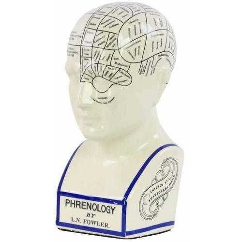 Urban Trends Collection: Ceramic Bust Ornament, Gloss Finish, White
