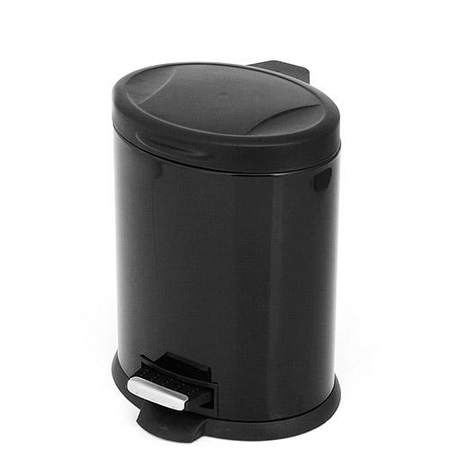 Mainstays Oval Step 3.2-Gallon Trash Can, Black