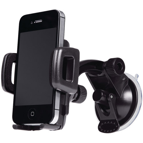 Merkury M-UPW110 Smartphone Windshield Car Mount, Black