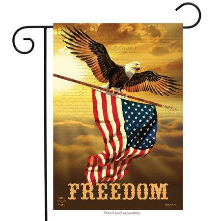 freedom patriotic garden flag bald eagle usa 12.5